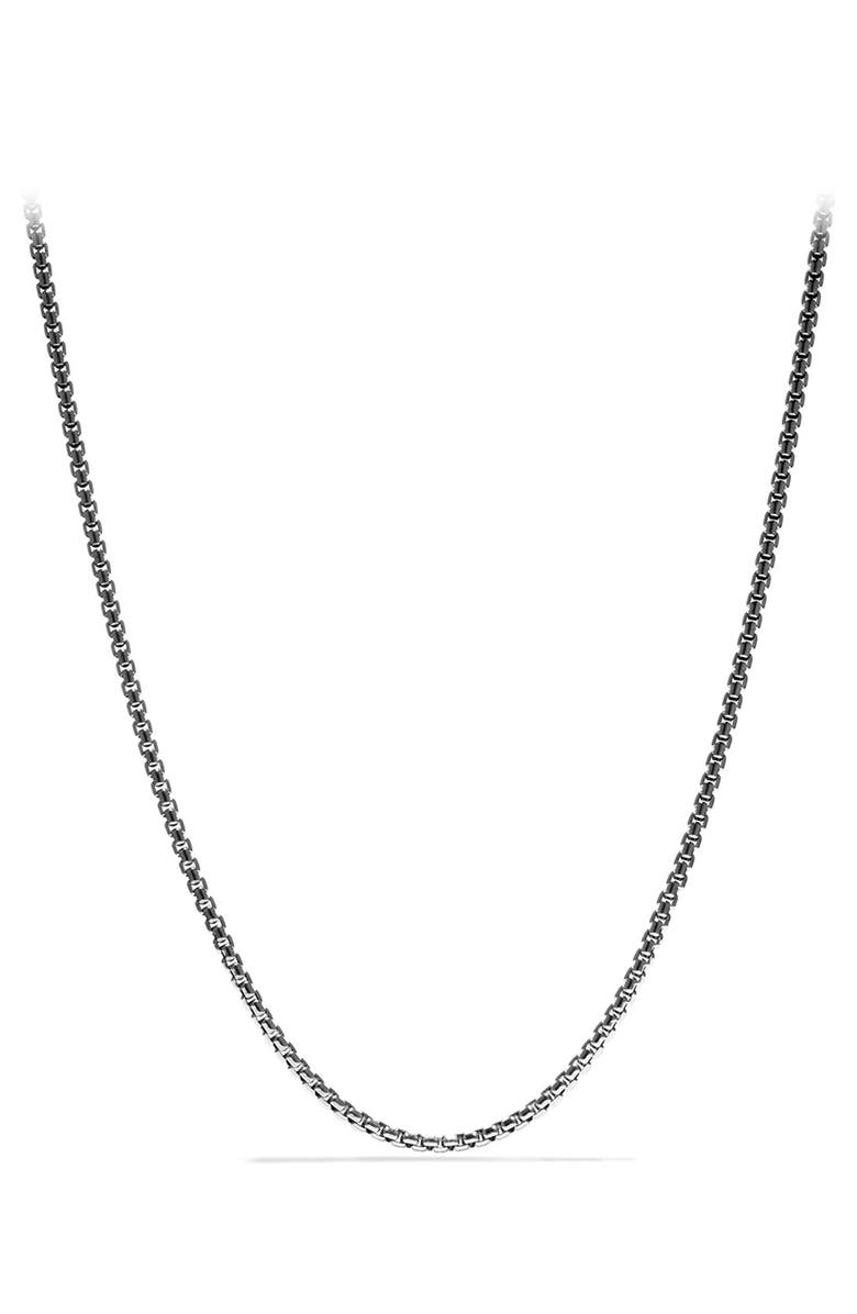 DAVID YURMAN 'Chain' Medium Box Chain Necklace, Main, color, SILVER