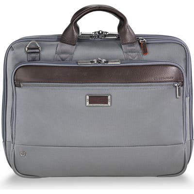 Briggs & Riley @work Medium Briefcase - Grey