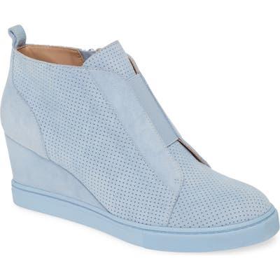 Linea Paolo Felicia Iii Wedge Sneaker- Blue