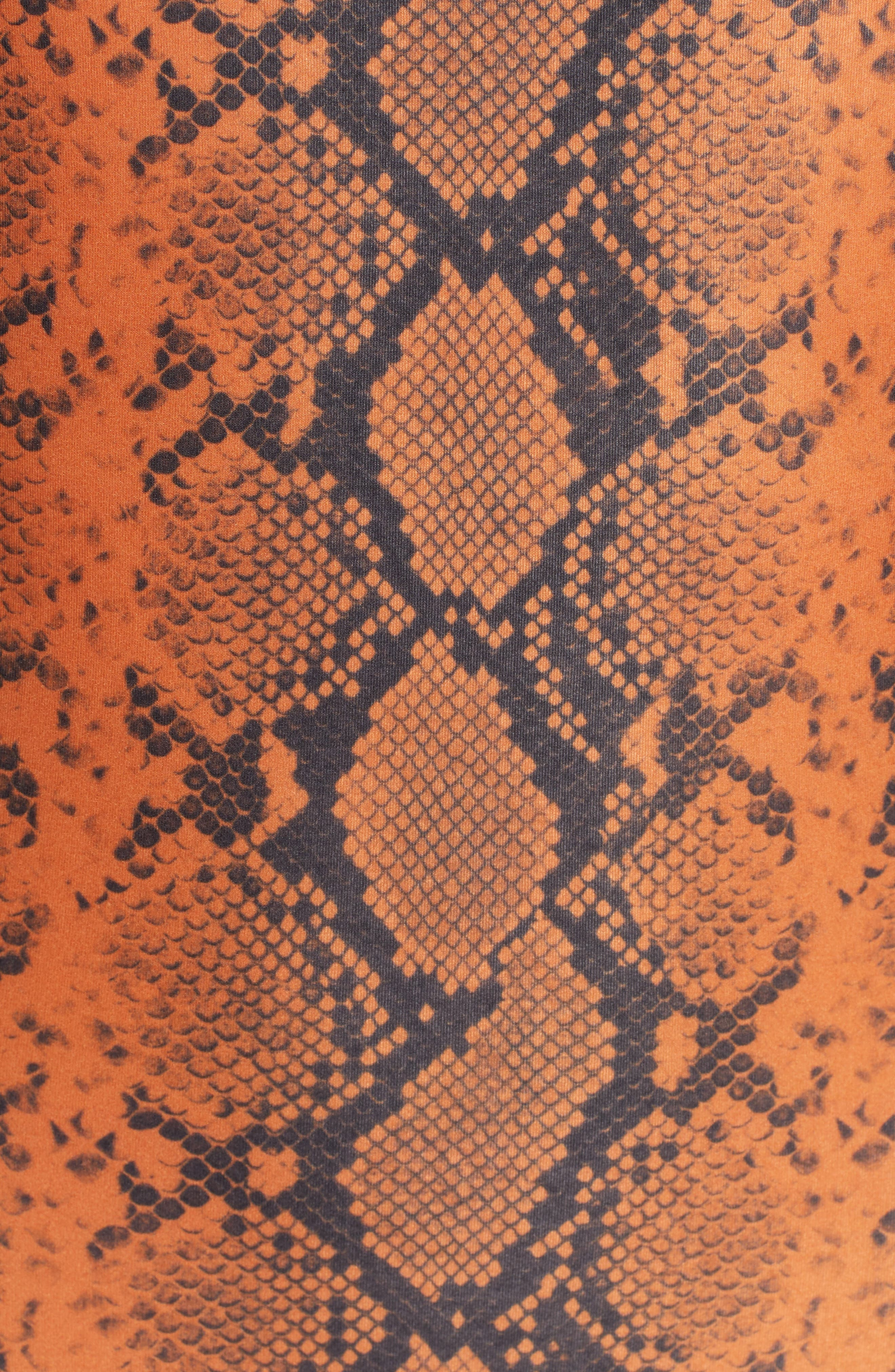 ,                             Snake Print Scoop One-Piece Swimsuit,                             Alternate thumbnail 6, color,                             RUST MULTI