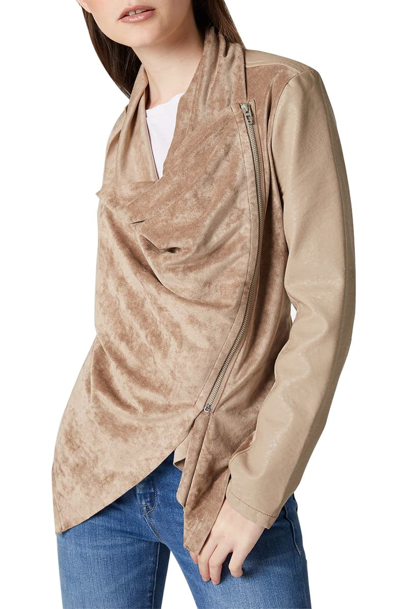 BLANKNYC Drape Front Jacket, Main, color, HUMP DAY