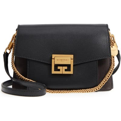 Givenchy Small Gv3 Leather & Suede Crossbody Bag - Black