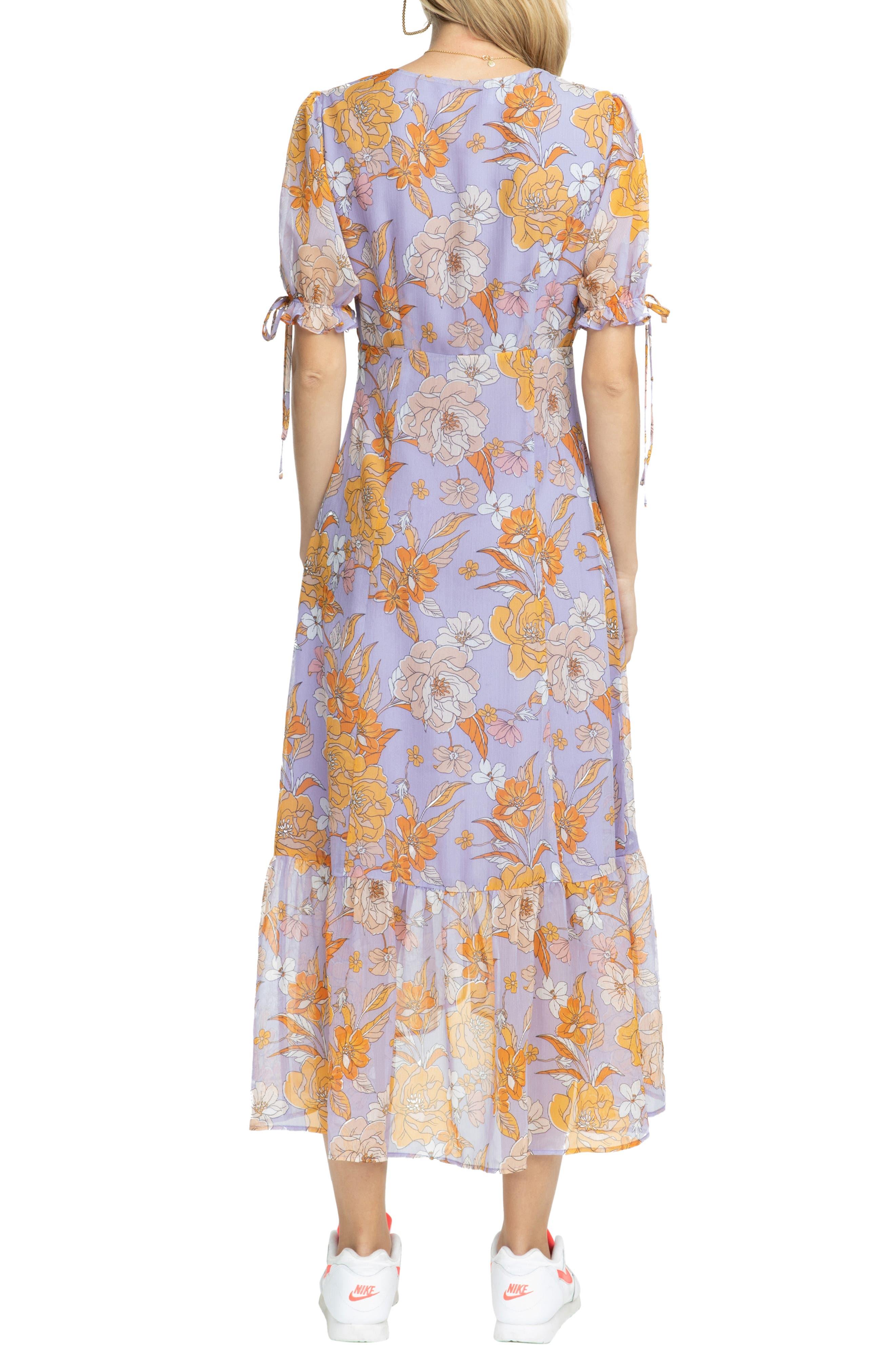 ,                             Chandler Floral Dress,                             Alternate thumbnail 2, color,                             ELECTRICAL LILAC FLORAL