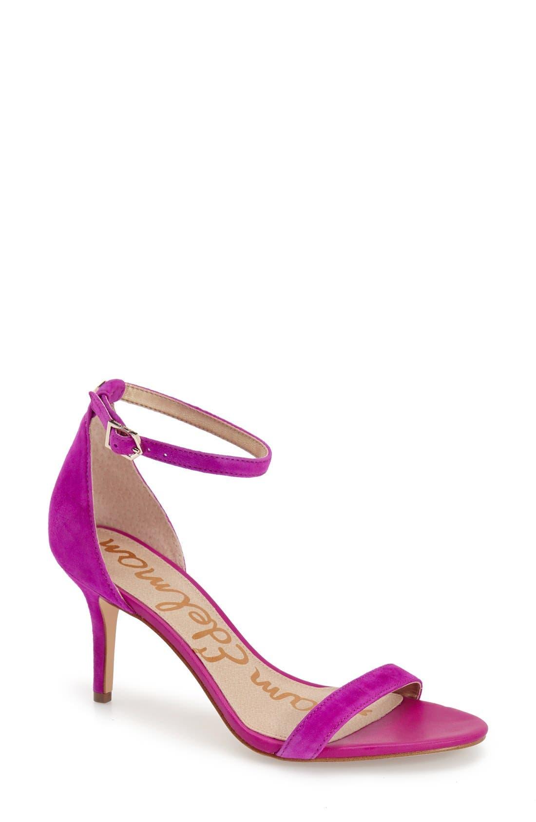 ,                             'Patti' Ankle Strap Sandal,                             Main thumbnail 204, color,                             651
