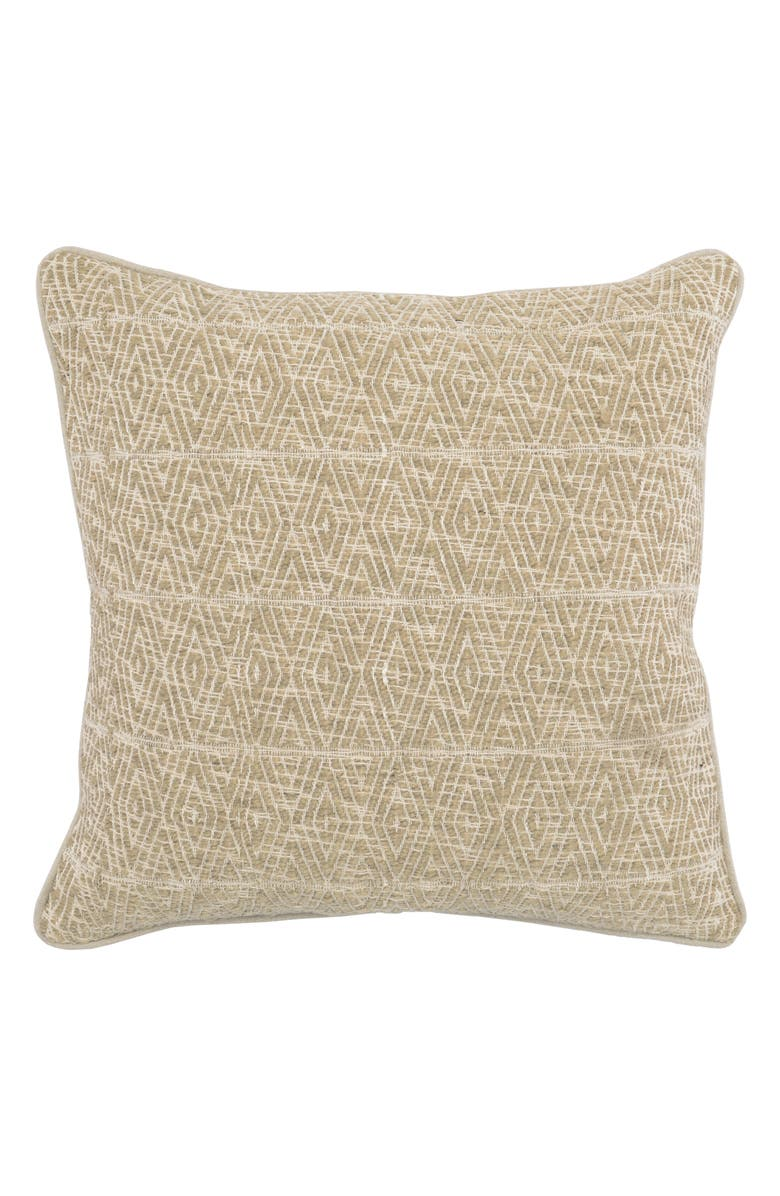 VILLA HOME COLLECTION Kinney Accent Pillow, Main, color, NATURAL