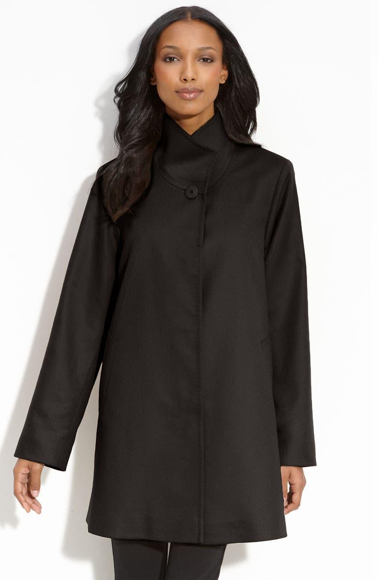 FLEURETTE Cashmere Car Coat, Main, color, 001