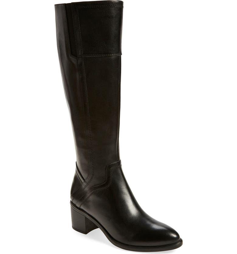 FRANCO SARTO 'Edalina' Knee High Boot, Main, color, 001