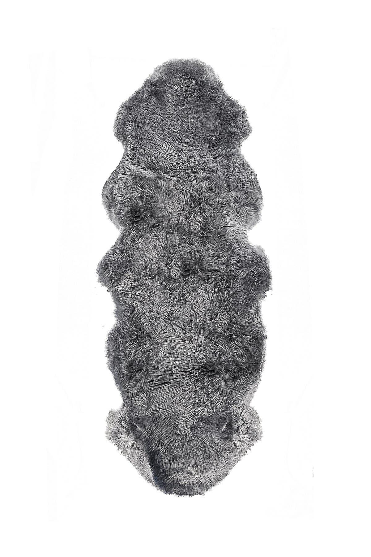 Image of Natural New Zealand Genuine Sheepskin Rug - 2ft x 6ft - Grey