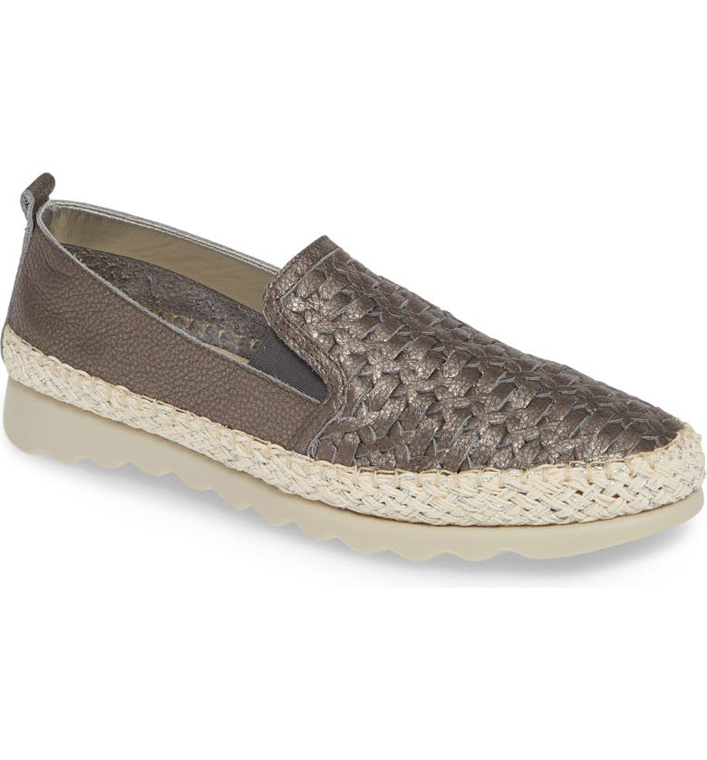 THE FLEXX Chapter Woven Slip-On Sneaker, Main, color, CANNA DI FUCILE CURTIS LEATHER