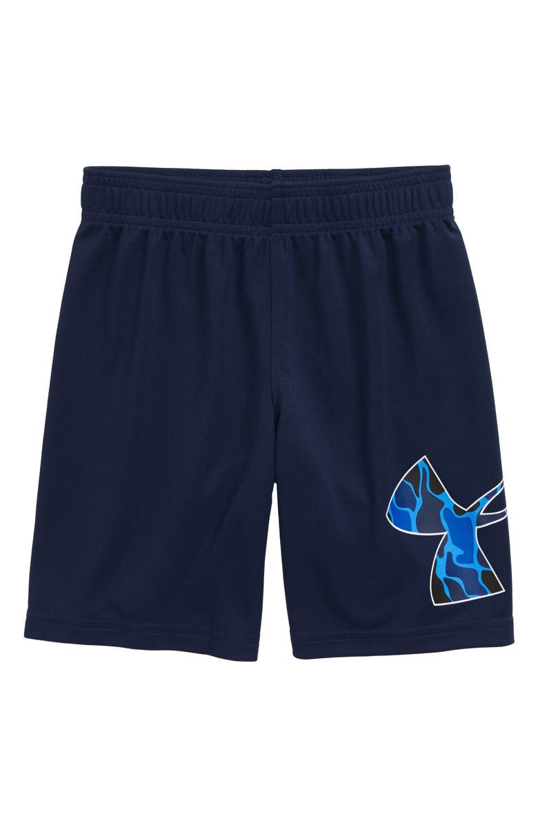UNDER ARMOUR HeatGear<sup>®</sup> Diverge Multi Striker Athletic Shorts, Main, color, ACADEMY