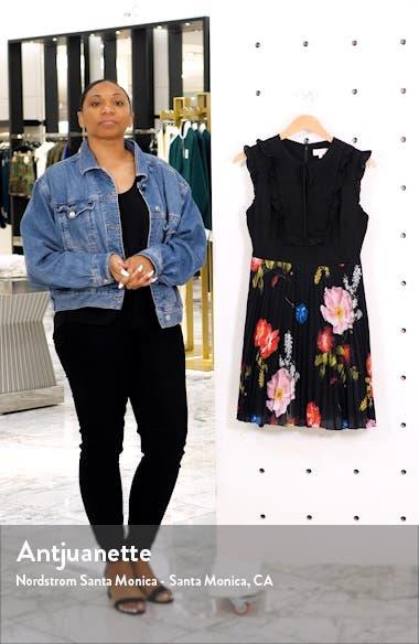 Romanna Floral Pleat Dress, sales video thumbnail