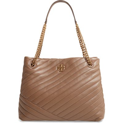 Tory Burch Kira Chevron Quilted Leather Tote - Brown