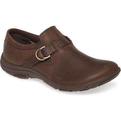 Merrell Dassie Stitch Buckle Slip-On- Brown