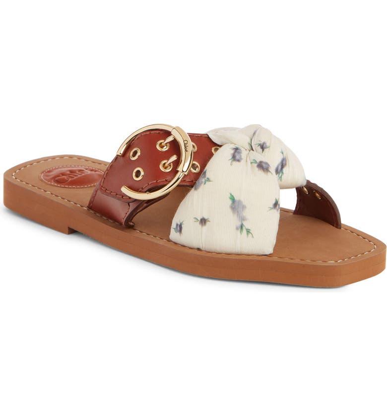 CHLOÉ Woody Buckle Slide Sandal, Main, color, 201