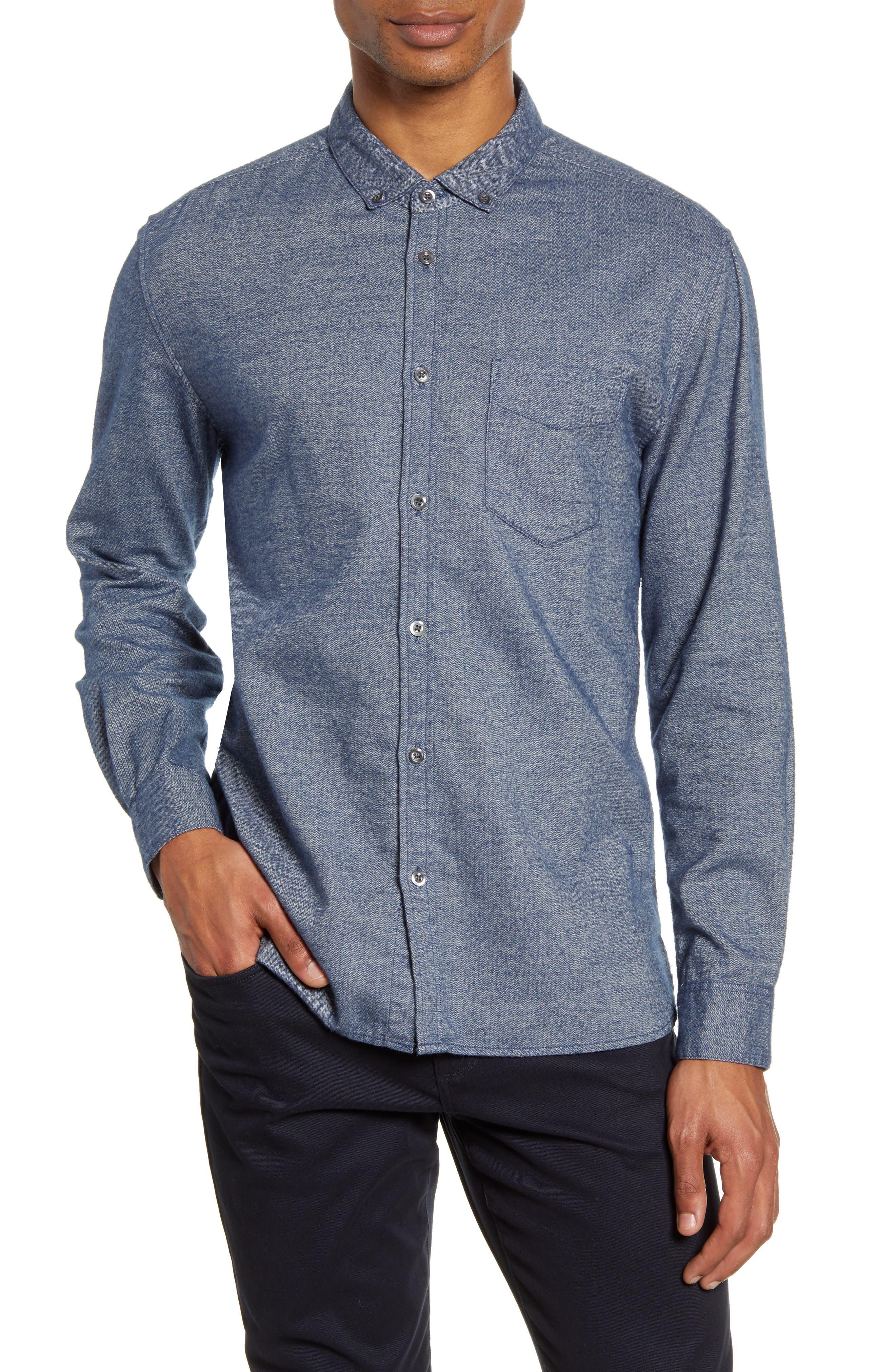 Hansen Regular Fit Button-Down Flannel Shirt
