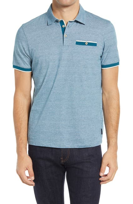 Image of Ted Baker London Firepit Slim Fit Knit Polo