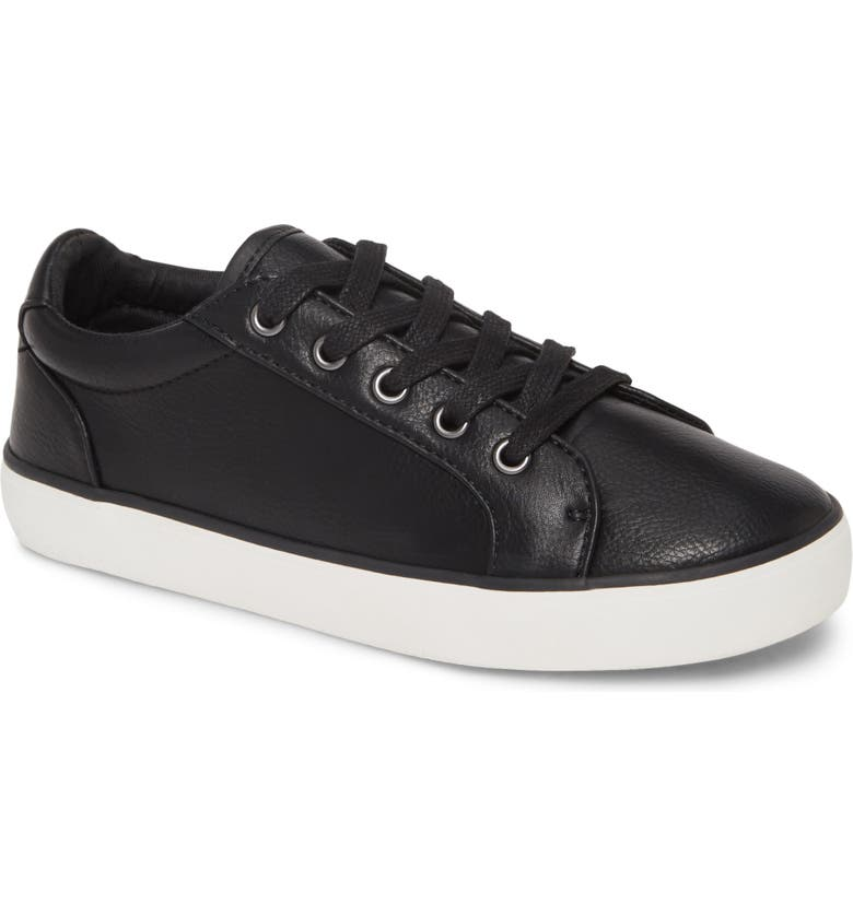 1901 Lace Up Sneaker, Main, color, BLACK FAUX LEATHER