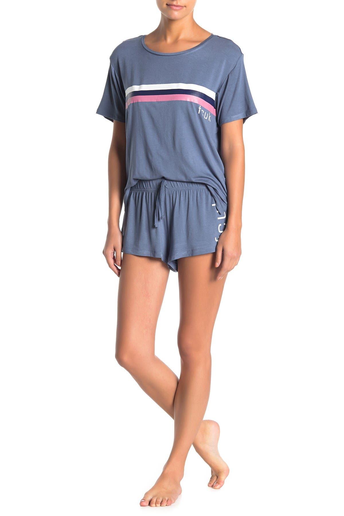Image of French Connection Logo T-Shirt & Shorts Pajama 2-Piece Set