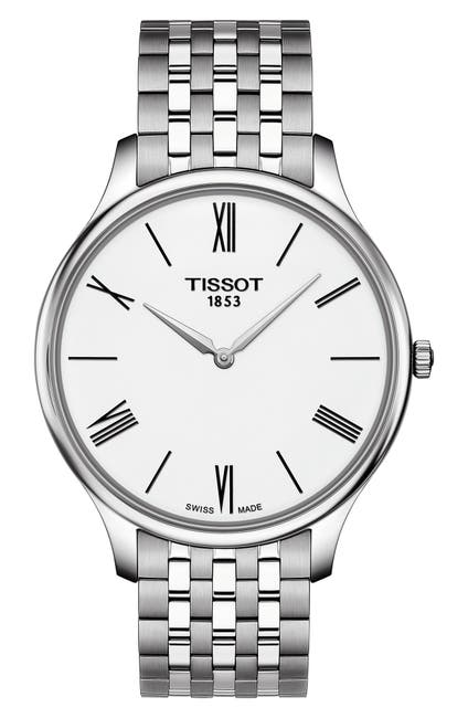 Image of Tissot Men's Tradition 5.5 Swiss Quartz Bracelet Watch, 39mm