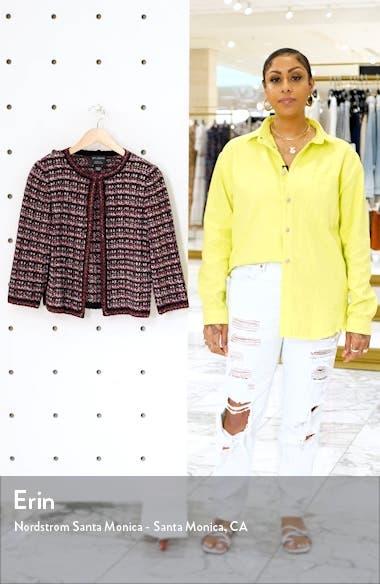 Multi Tuck Tweed Knit Jacket, sales video thumbnail