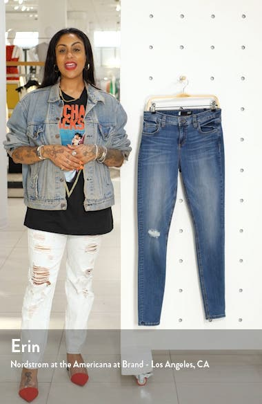 Mia Ripped Toothpick Skinny Jeans, sales video thumbnail