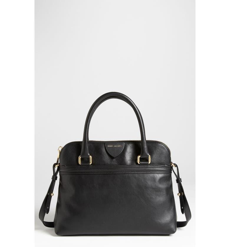 MARC JACOBS 'Raleigh Preston' Leather Satchel, Main, color, Black