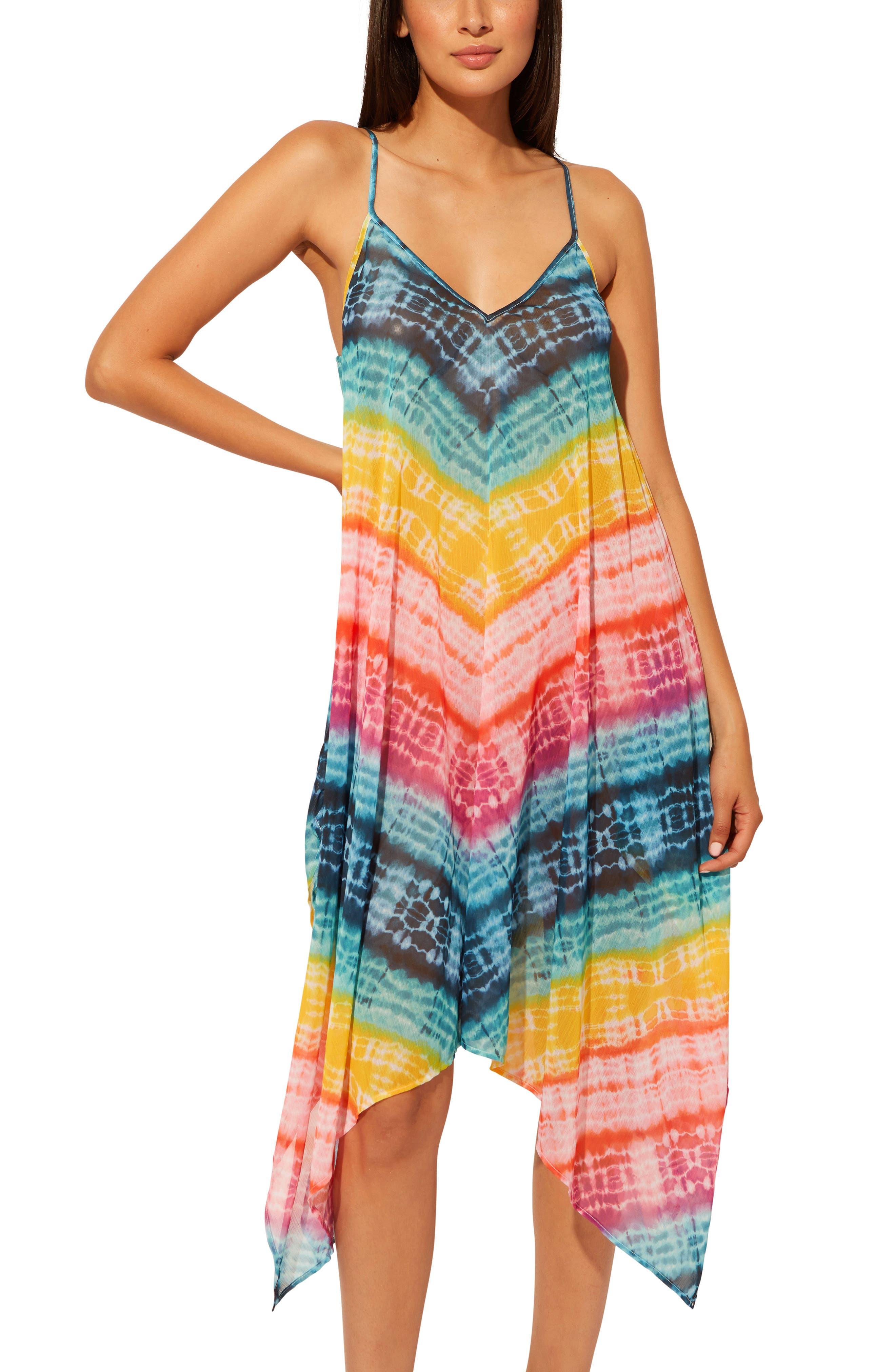 Good Vibrations Handkerchief Hem Cover-Up Dress