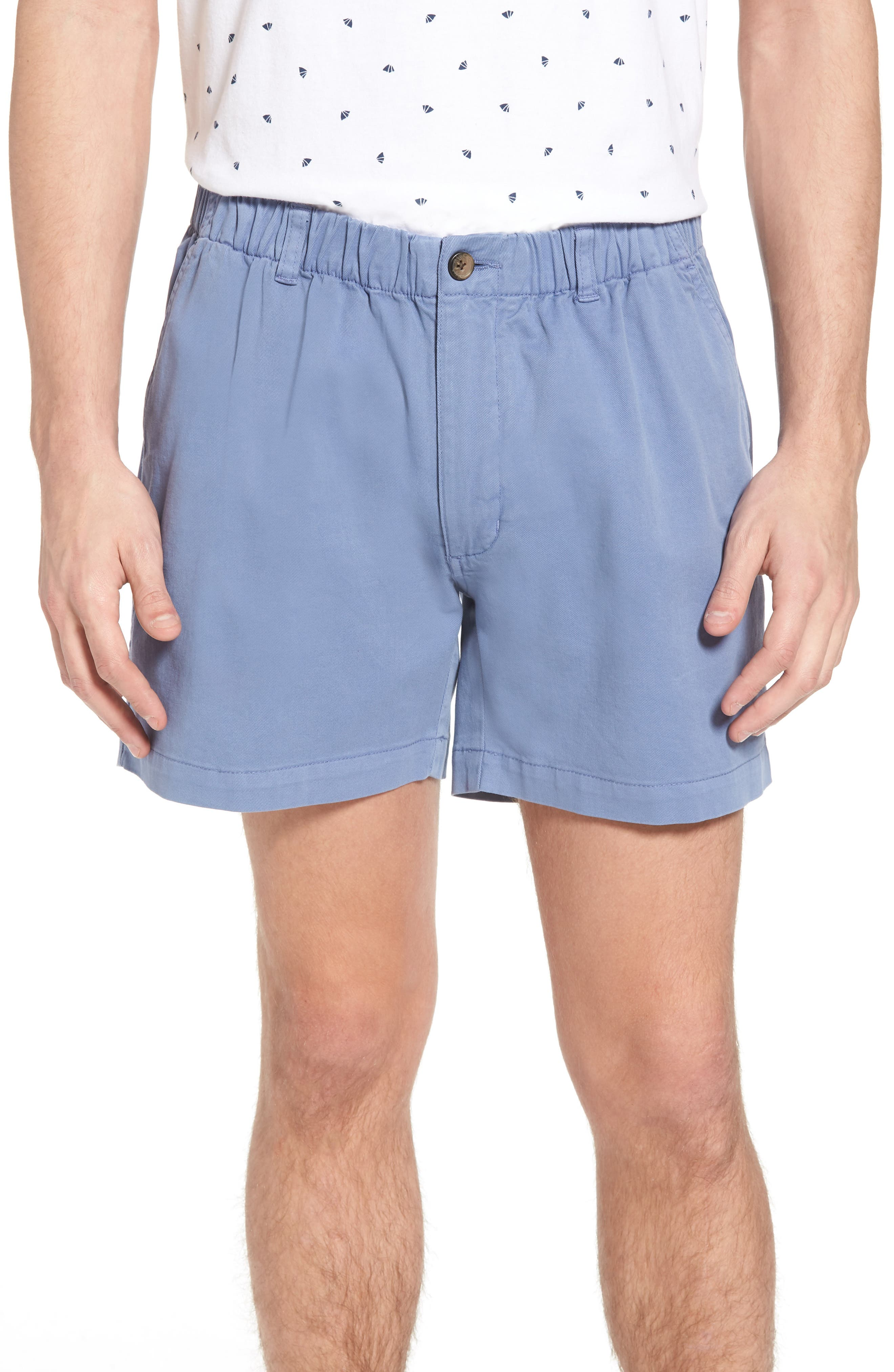 1940s Men's Fashion, Clothing Styles Mens Vintage 1946 Snappers Elastic Waist 5.5 Inch Stretch Shorts Size XX-Large - Blue $55.00 AT vintagedancer.com