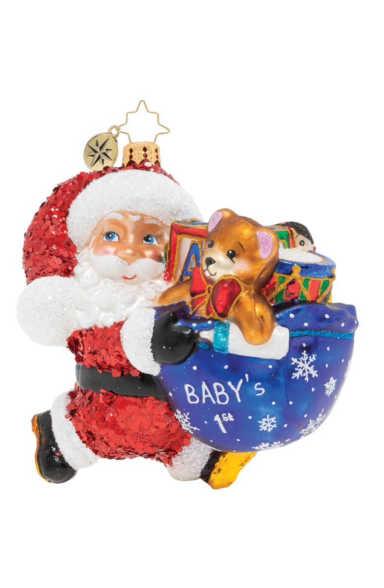 CHRISTOPHER RADKO It's Baby's First Christmas Ornament, Main, color, MULTI
