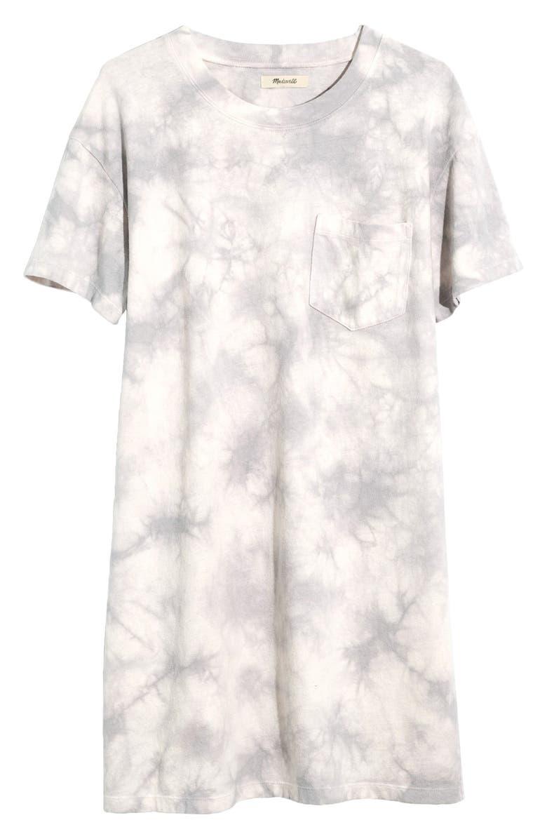 MADEWELL Tie-Dye T-Shirt Dress, Main, color, 100