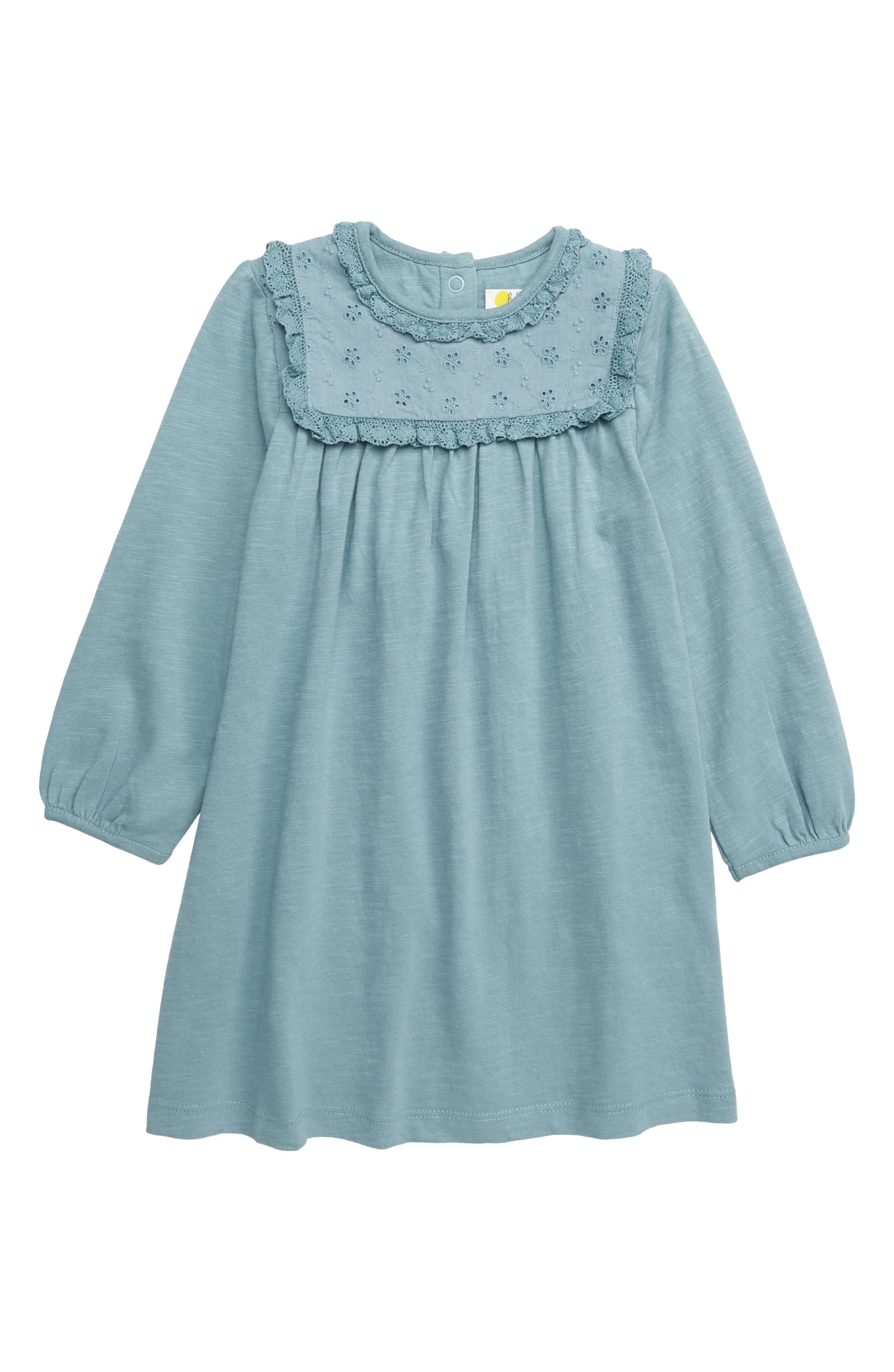 3084d8725 Infant Girl's Mini Boden Broderie Yoke Dress, Blue