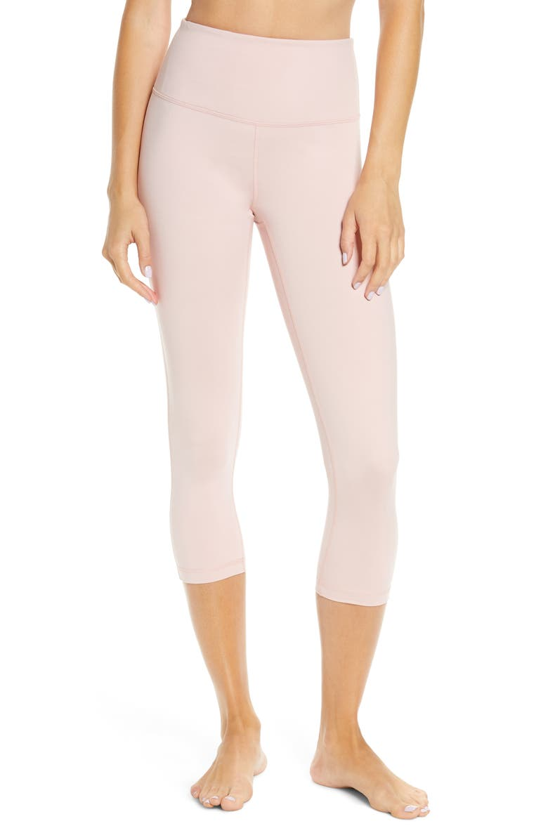 ZELLA Studio Crop Lite Leggings, Main, color, PINK SILVER