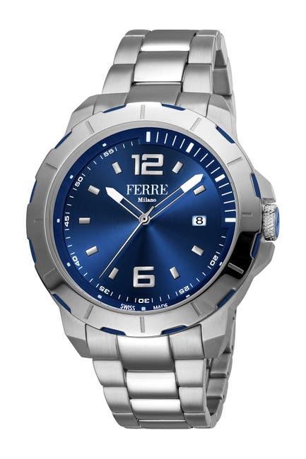 Image of Ferre Milano Men's Uomo Capri Stainless Steel Watch, 45mm