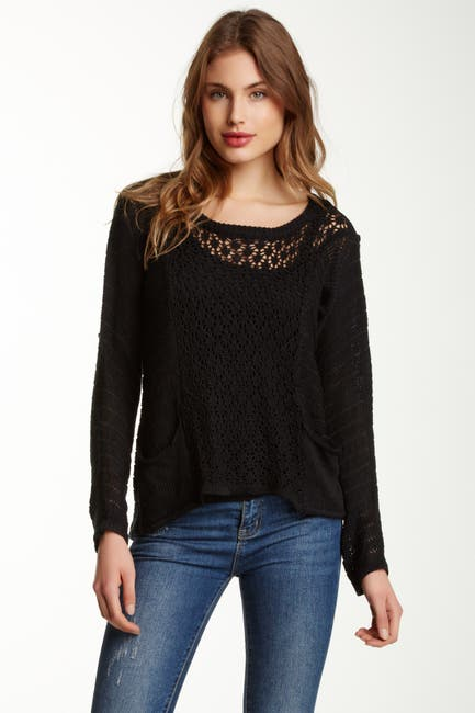 Image of Papillon Pointelle Knit Sweater