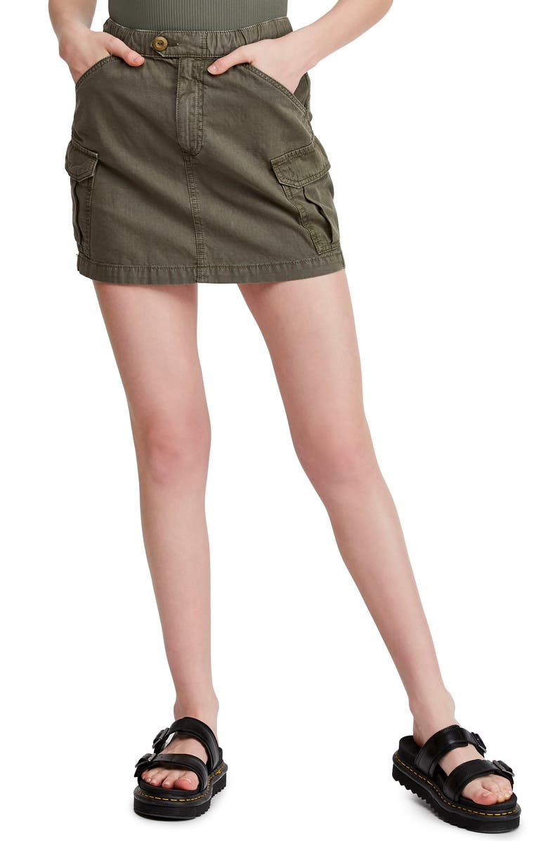 BDG Urban Outfitters Army Utility Miniskirt, Main, color, ARMY