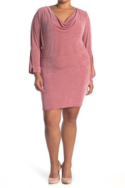 Image of Curvy Sense Allie Cowl Neck Dress