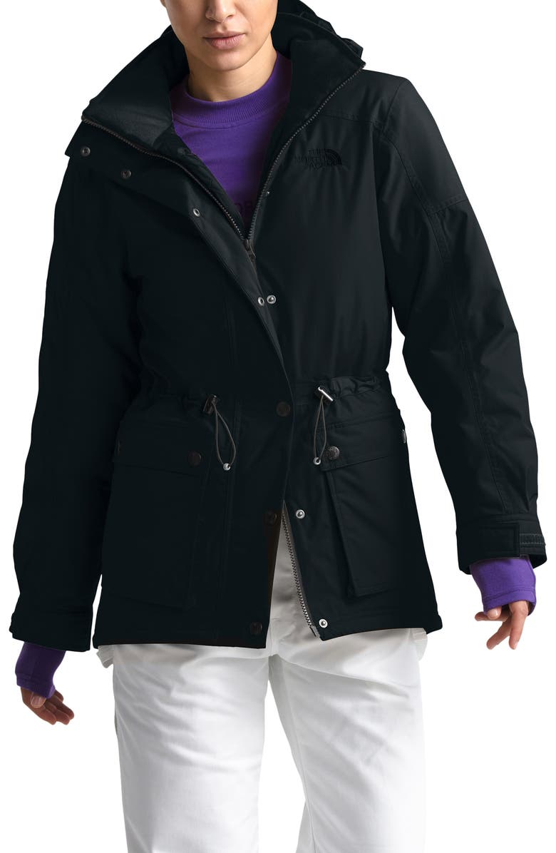 THE NORTH FACE Reign On 550 Fill Power Down Hooded Parka, Main, color, TNF BLACK