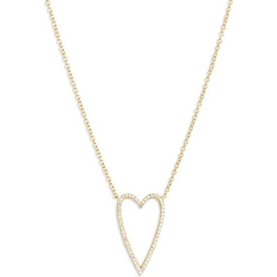 Bony Levy Large Diamond Open Heart Pendant Necklace (Nordstrom Exclusive)