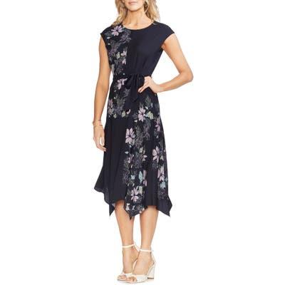 Vince Camuto Floral Vines Belted Dress, Blue