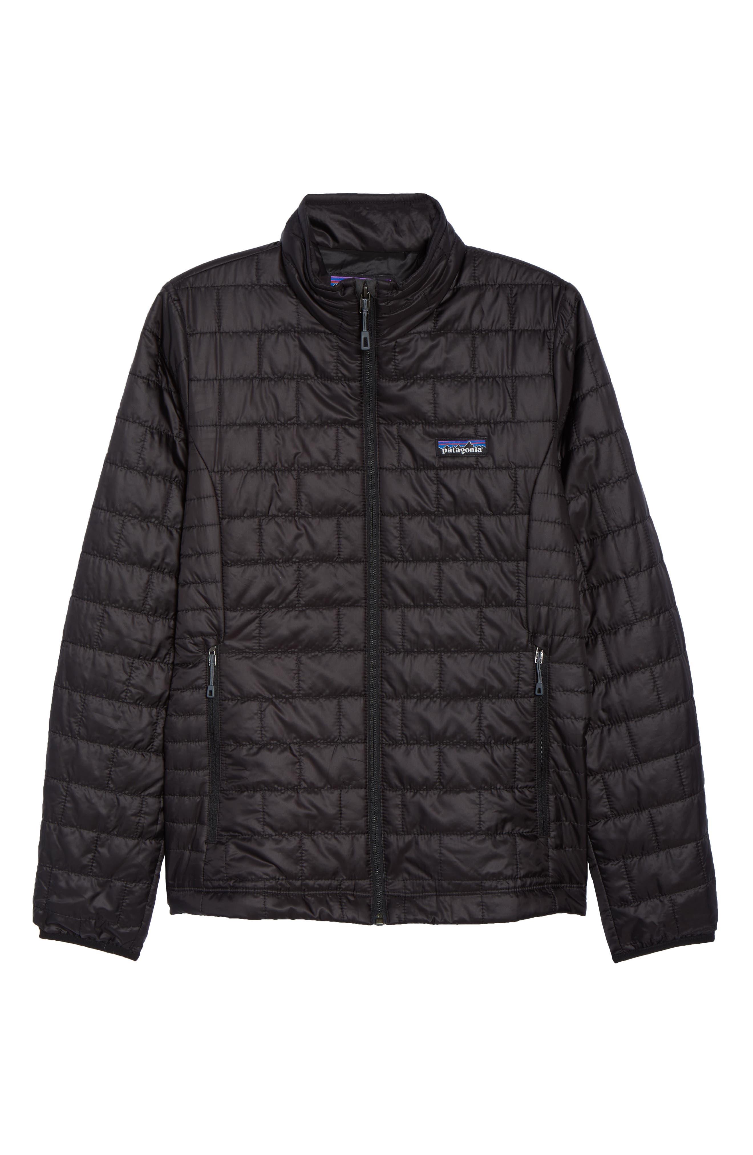 ,                             Nano Puff<sup>®</sup> Water Resistant Jacket,                             Alternate thumbnail 7, color,                             BLACK