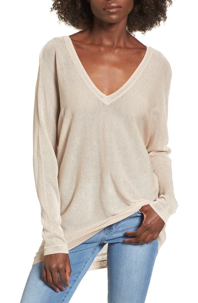LEITH Double V-Neck Sweater, Main, color, 270