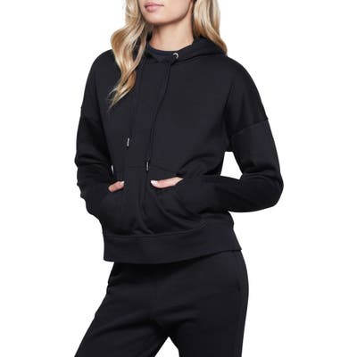 Plus Size Good Armerican Lace Back Hoodie, (fits like 14-16 US) - Black