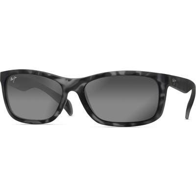 Maui Jim Puhi 5m Polarized Sunglasses - Grey Tortoise Matte