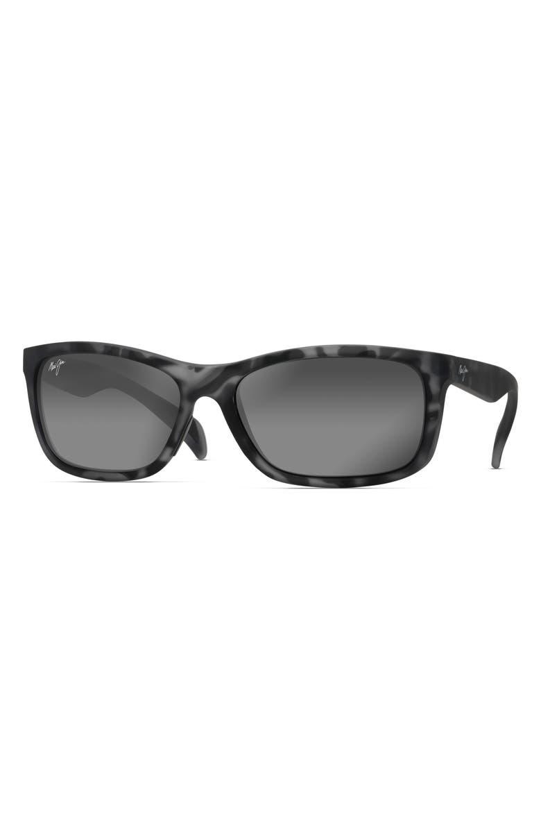 MAUI JIM Puhi 59mm Polarized Sunglasses, Main, color, GREY TORTOISE MATTE