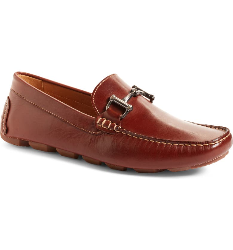 1901 Marco Driving Shoe, Main, color, COGNAC LEATHER