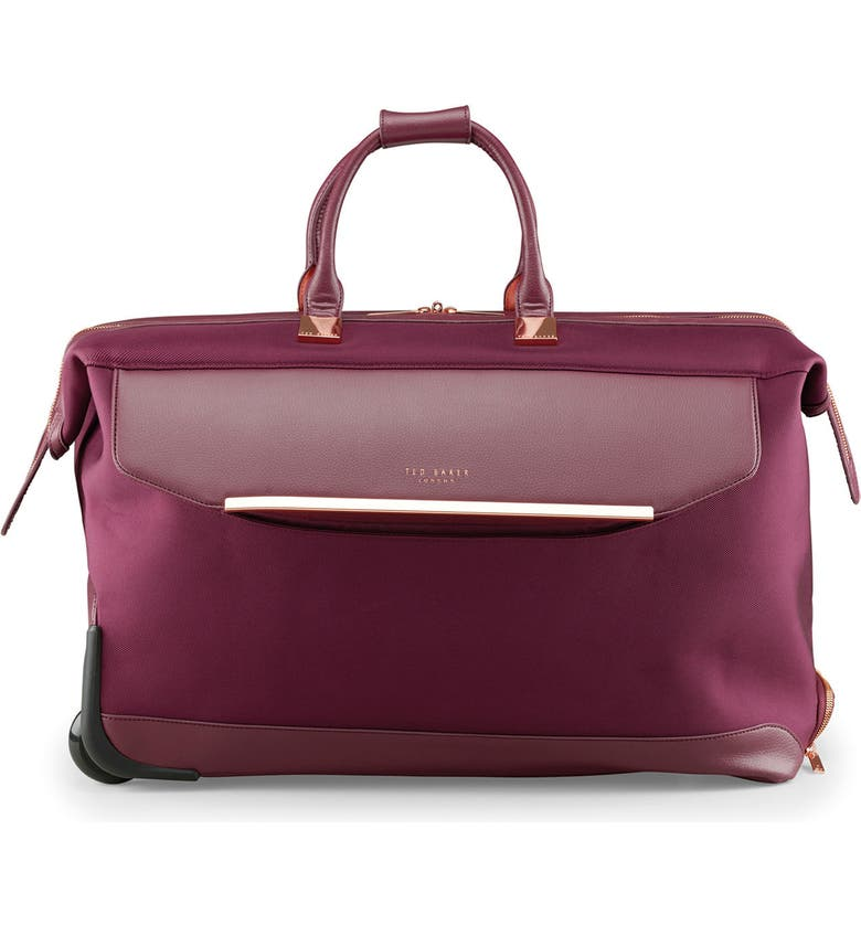 TED BAKER LONDON 24-Inch Large Front Pocket Rolling Duffle Bag, Main, color, 930