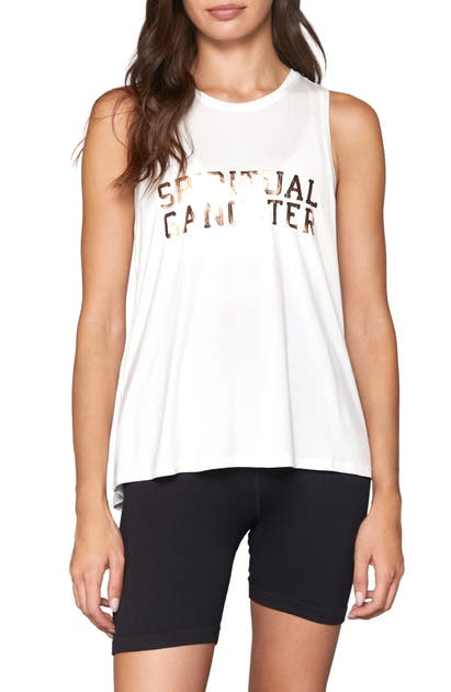 Spiritual Gangster VIBES DREAM TIE BACK GRAPHIC TANK