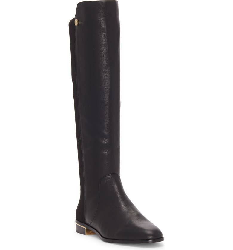 LOUISE ET CIE Tannar Boot, Main, color, BLACK LEATHER/ SUEDE