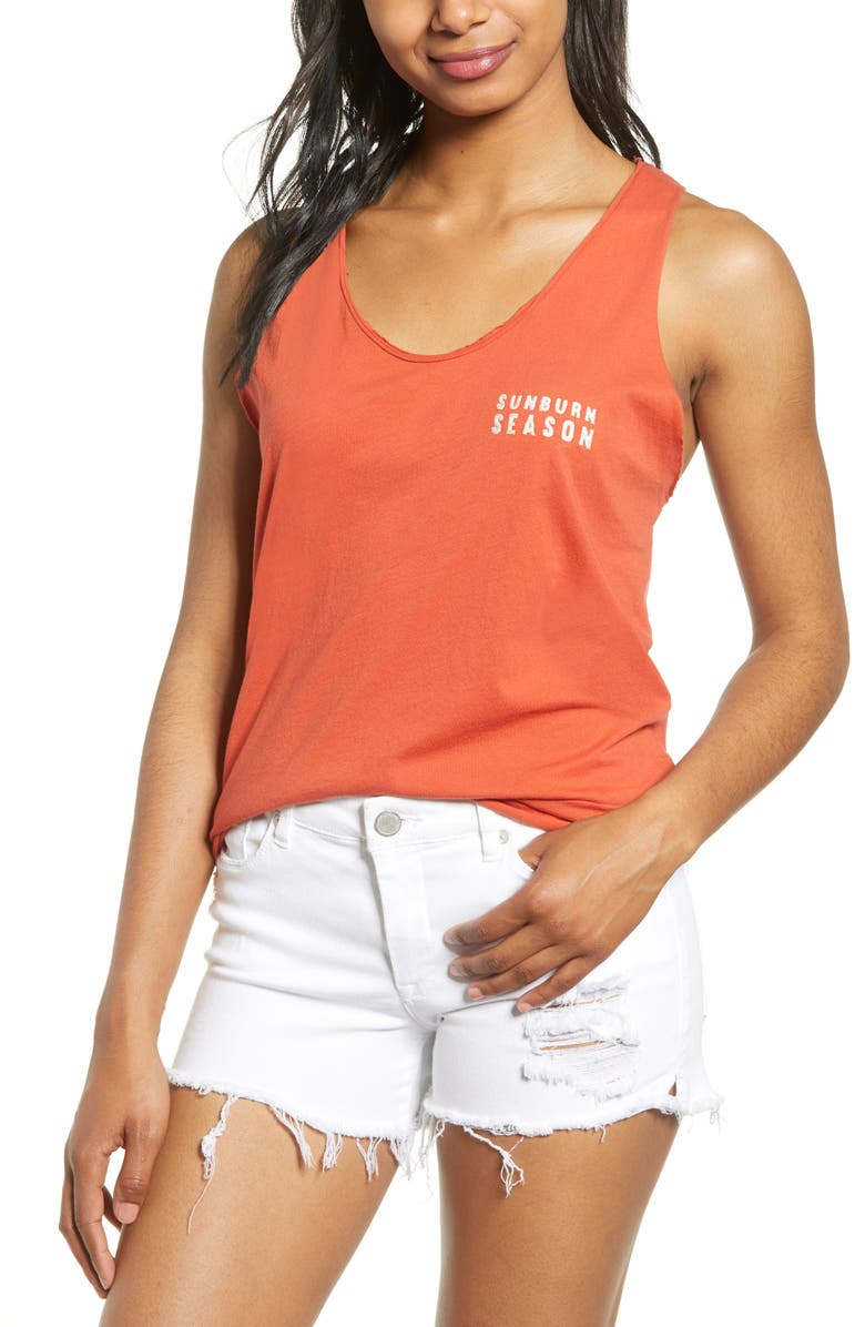 PROJECT SOCIAL T Sunburn Season Tank, Main, color, GRENADINE