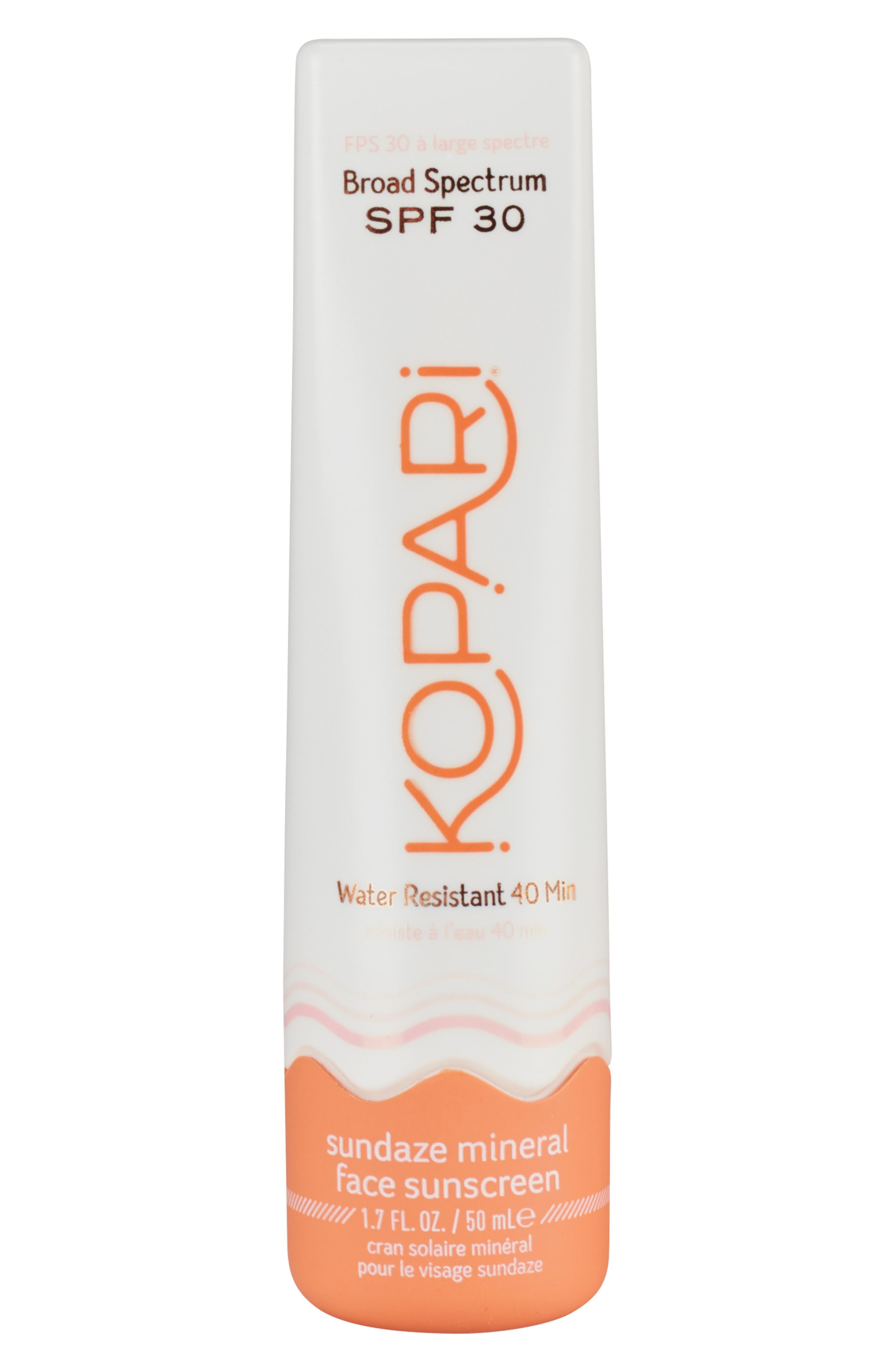 Sundaze Mineral Face Sunscreen SPF 30, Main, color, NO COLOR